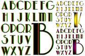 ABC Alphabet lettering design Park combo — Stock Vector