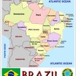 Brazil Administrative divisions — Stock Vector #69763013