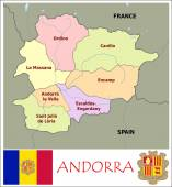 Andorra Administrative divisions — Stock Vector
