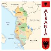 Albania Administrative divisions — Stock Vector