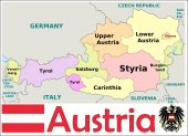 Austria Administrative divisions — Stock Vector