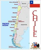 Chile Administrative divisions — Stock Vector