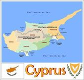 Cyprus Administrative divisions — Stock Vector