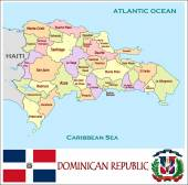 Dominican Republic Administrative divisions — Stock Vector
