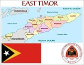 East Timor Administrative divisions — Stock Vector