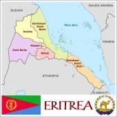 Eritrea Administrative divisions — Stock Vector