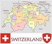 Switzerland Administrative divisions — Stock Vector