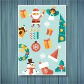 Card for the New Year holiday. — Stock vektor