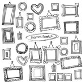 Frames in graphic style. — Stock Vector