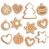 向量组的圣诞姜饼. — 图库矢量图片