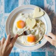 Poached Eggs — Stock Photo #58981207
