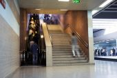 Escalator and stairs — Stock Photo