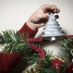 Decorating christmas tree — Stock Photo #59532509