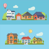 Residential Houses — Stock Vector
