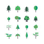 Tree Icon Set — Stock Vector