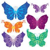 Conjunto de mariposas — Vector de stock
