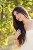 Beautiful harmonious woman. Bride. — Stock Photo