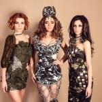 Beautiful women in fashion military clothing. Studio shot — Stock Photo #75498645