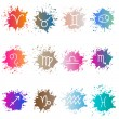 The signs of the zodiac. Set of colorful isons — Stock Vector #60533981