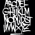 Hand style graffiti font alphabet. Vector — Stock Vector #59439507