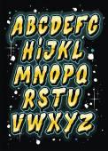 Hand drawn comics style letttering font. Vector alphabet — Stock vektor