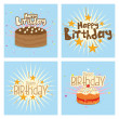 Happy birthday — Stock Vector #52358649