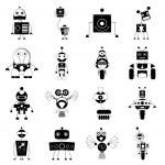 Robot sets — Stock Vector #52558309