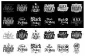 Black friday set — Stock Vector