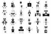 Robot sets — Vector de stock