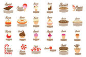 Candies sets — Stock Vector