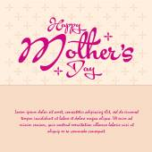Mother's day — Stockvector