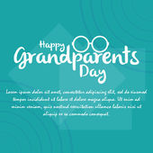 Grandparents' day — Vetorial Stock