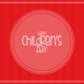Children's day — Vetorial Stock