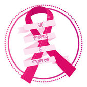 Breast cancer — Stock Vector
