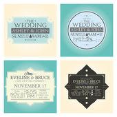 Wedding cards — Stock Vector
