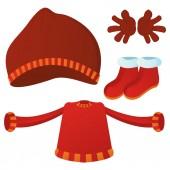 Winter clothes — Stock Vector