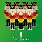 Nutcracker soldiers — Stock Vector