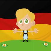 Kinder und Flaggen — Stockvektor