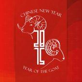 Chiński nowy rok — Wektor stockowy