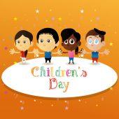 Giorno dei bambini — Vettoriale Stock