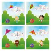 Happy children's day — Stockvektor