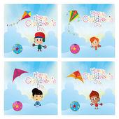 Happy children's day — Stock Vector