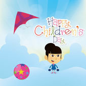 Happy children's day — Stock Vector