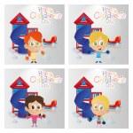 Happy children's day — Stock Vector #67108789
