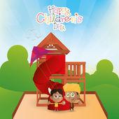 Journée de l'enfance heureuse — Vecteur