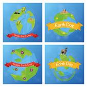 Tag der Erde — Stockvektor