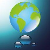 Día mundial del agua — Vector de stock
