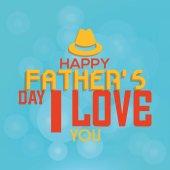 Gelukkig vaderdag — Stockvector