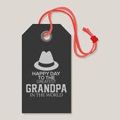Happy grandparents' day — Stock Vector