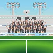 Soccer — Stock Vector
